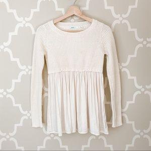Kimchi Blue Cream Skirted Sweater Sz XS